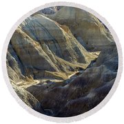 Stripped Mounds Round Beach Towel