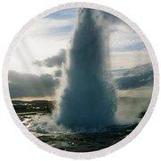 Strokkur Geyser - Iceland Round Beach Towel