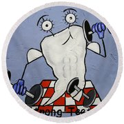 Strong Teeth Round Beach Towel by Anthony Falbo