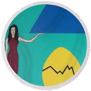 Stronger Than You Think Round Beach Towel
