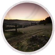 Stroud Sunrise Round Beach Towel