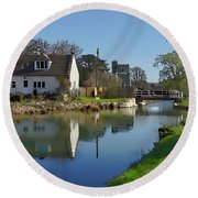 Stroudwater Canal Stonehouse Round Beach Towel