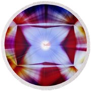 Structural Binary Reflection Round Beach Towel