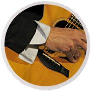 Strum'n Round Beach Towel