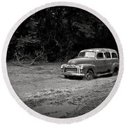 Stuck In The Mud Round Beach Towel by Edward Fielding