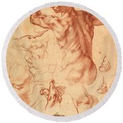 Studies For The Libyan Sibyl Round Beach Towel