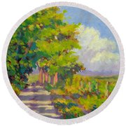 Study For Afternoon Shadows Round Beach Towel