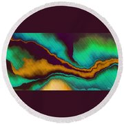 Study For Demagogic Purity Round Beach Towel