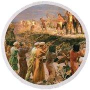 Study For The Execution Of The Twenty Six Baku Commissars Round Beach Towel