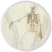 Study Of The Human Figure, Anterior View, From A Comparative Anatomical Exposition Of The Structure Round Beach Towel