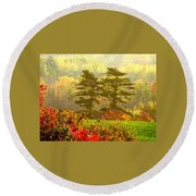 Stunning - Looks Like A Painting - Autumn Landscape  Round Beach Towel