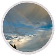 Stunning Rainbow Round Beach Towel