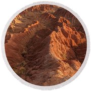 Stunning Red Rock Formations Round Beach Towel