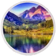 Stunning Reflections Round Beach Towel