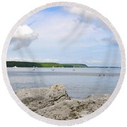 Sturgeon Bay In Summer Round Beach Towel