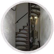 Sturgeon Point Lighthouse Spiral Staircase Round Beach Towel