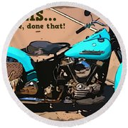 Sturgis Motorcycle Rally Round Beach Towel