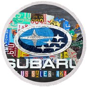 Subaru License Plate Map Sales Celebration Limited Edition 2013 Art Round Beach Towel