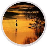 Sublime Silhouette Round Beach Towel