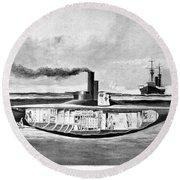 Submarine 'holland,' 1898 Round Beach Towel