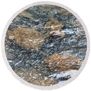 Submerged Stone Abstract Round Beach Towel