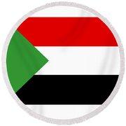 Sudan Flag Round Beach Towel