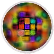 Sudoku Tunnel Abstract Round Beach Towel
