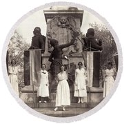 Suffragettes, 1918 Round Beach Towel