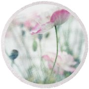 suffused with light III Round Beach Towel