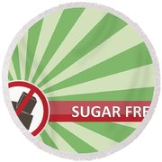 Sugar Free Banner Round Beach Towel