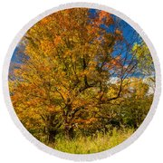 Sugar Maple 3 Round Beach Towel