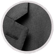 Suit Texture Round Beach Towel