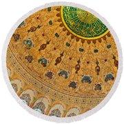 Suleiman Mosque Interior 08 Round Beach Towel