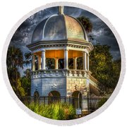 Sulfur Springs Gazebo Round Beach Towel