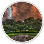 Sulfur Springs Tower Round Beach Towel