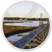 Sullivan's Island To Old Village Round Beach Towel
