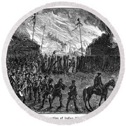 Sullivans March, 1779 Round Beach Towel