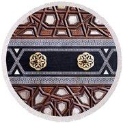 Sultan Ahmet Mausoleum Door 03 Round Beach Towel