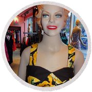 Sultry In Sunflowers Round Beach Towel