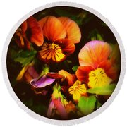 Sultry Nights - Flower Photography Round Beach Towel