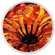 Sultry Petals Round Beach Towel