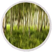 Summer Aspens Round Beach Towel