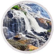 Summer At The Falls Round Beach Towel