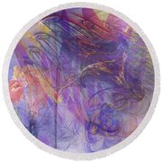 Summer Awakes - Square Version Round Beach Towel