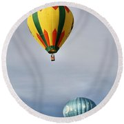 Summer Balloons Round Beach Towel