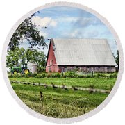 Summer Barn Round Beach Towel by Cricket Hackmann