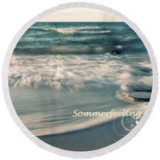 Summer Beach Round Beach Towel