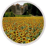 Summer Bliss Round Beach Towel by France  Art