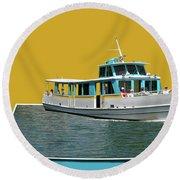 Summer Boat Ride 02 Walt Disney World Round Beach Towel