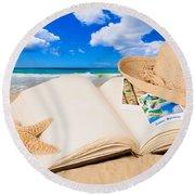 Summer Book Round Beach Towel